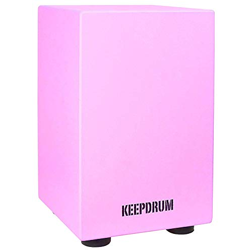 keepdrum DC1M PK Junior Cajon für Kinder Pink Rosa Trommel-Hocker