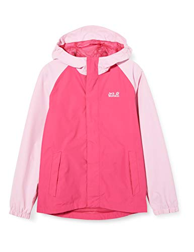 Jack Wolfskin Kinder Tucan Jacket Kids Atmungsaktive Regenjacke, pink peony, 116 (XS)