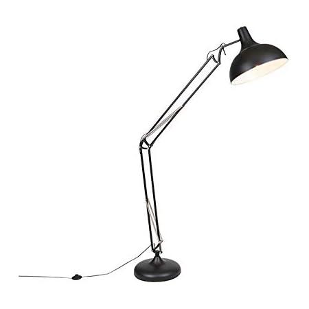 QAZQA hobby fl - Lampadaire Rétro - 1 lumière - H 1850 mm - Noir - Rétro - Éclairage intérieur - Salon   Chambre