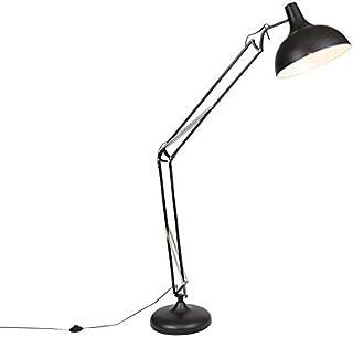 QAZQA hobby fl - Lampadaire Rétro - 1 lumière - H 1850 mm - Noir - Rétro - Éclairage intérieur - Salon | Chambre