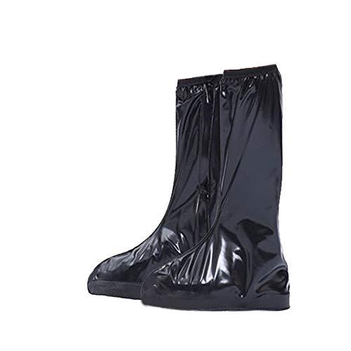 ZzheHou Überschuhe wasserdichte Stiefel Regen Schuh Gleitschuh Leggings Wiederverwendbar Waschbar Schneeschuh DREI Farb Radfahren Überschuhe (Color : Coffee, Size : Medium)