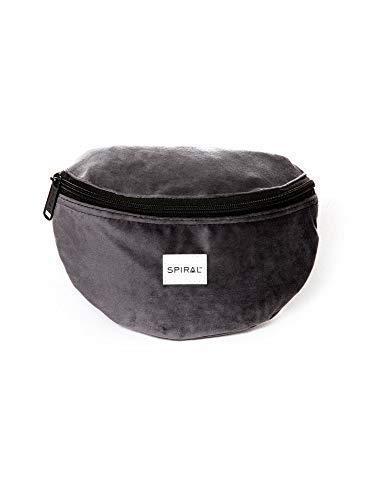 Spiral Charcoal Velvet Bum Bag Riñonera de Marcha 23 Centimeters 2 Gris (Grey)