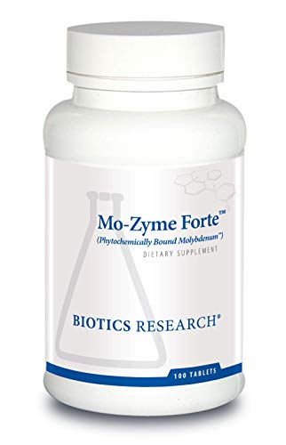 Biotics Research MoZyme Forte Molybdenum 150 Milligram, Liver Support, Detoxification, Essential Trace Element, Healthy Metabolism, Antioxidant Support 100 Tablets