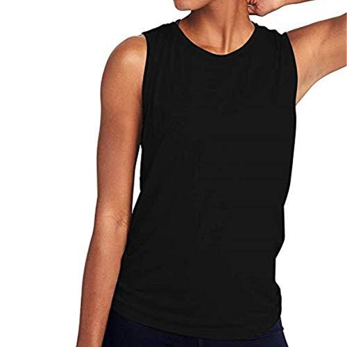 Cosye Camisa sin Mangas Deportes Fitness Yoga Chaleco básico Sin Mangas Blusa Fina Diseño sin Espalda Malla Yoga Chaleco de Ejercicio
