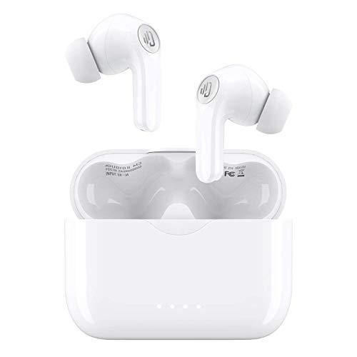 Auricolari wireless, microfono integrato Dudios Bluetooth 5.0, USB-C / IPX7 impermeabile / cancellazione del rumore / 25 ore di riproduzione / bassi profondi per sport da palestra in ufficio
