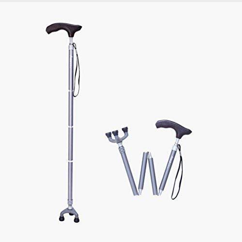 FHISD Muletas, Rollators Bastones Ligeros para Caminar con Mango ergonómico de Madera Muletas 10 Niveles de Altura Ajustables para Hombres o Mujeres Artritis Personas Mayores discapacitadas con 3