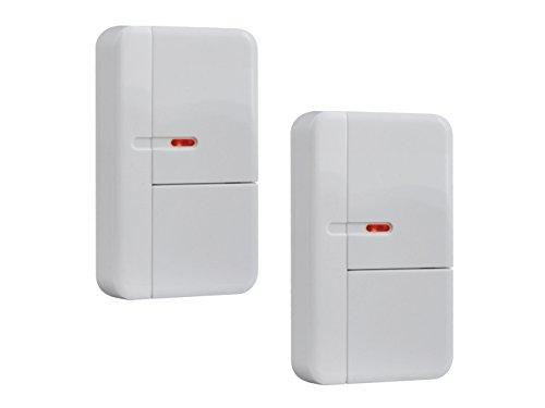 Set van 2 draadloze deur-/raamcontact, accessoires voor ELRO Smart Home Alarmsysteem AS8000, met sabotage-bescherming