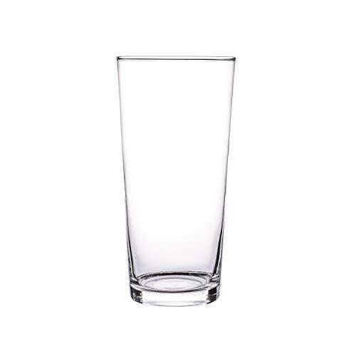 Glasvase, Transparent, KnikGlass Vase Glas Deko Blumenvase für Tischdeko und Hochzeit, Höhe 20 cm (#C)