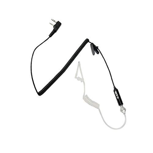 Kesilian 2 Pin tubo acustico stereo del trasduttore auricolare Earbud con il MIC sostitutiva per Kenwood/Baofeng/HYT