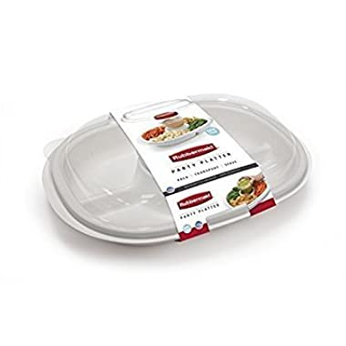 Rubbermaid Party Platter, Clear (2-Pack)