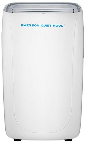 Emerson Quiet Kool, EAPE12RSD1 Smart Heat/Cool Portable Air Conditioner with Remote, Wi-Fi, and Voice Control for Rooms up to 400-Sq. Ft, White