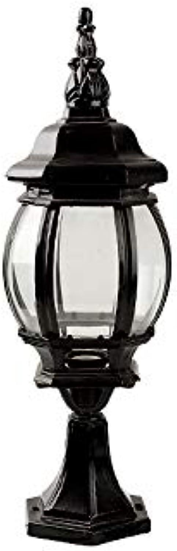 Pinjeer Europische Vintage Garten Licht E27 Antikes Oval Glass Post Light Outdoor IP54 Wasserdichte Aluminium Sule Licht Hof Villa Tür Gemeinschaft Dekorative Spalte Lampe (Farbe   schwarz)