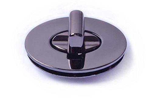 Bobeey 2sets 35x27mm Oval Purses Locks Clutches Closures,Metal Oval Twist Locks Purse Closure Turn Locks BBL4 (Black Gun, L)