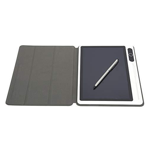 Blocco note elettronico da 10 pollici Blocco da disegno per tablet LCD Forniture aziendali Tecnologia di laminazione ad alta tecnologia per(Black (with leather case))