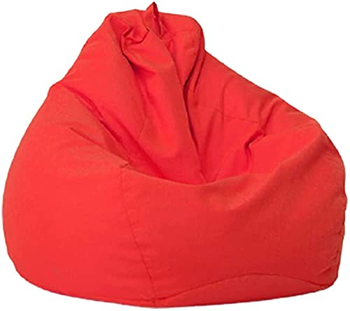 WSZYBAY Soft Bean Bags Chairs For Kids, Teens, Adults - Fine Linenfabric Bag Chair - Dorm Room Comfy For Reading Game Meditating,Red,Extra Large (Color : Red, Size : XL)