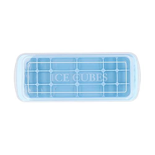 Stampo per cubetti di ghiaccio, vassoio per il ghiaccio in silicone multiuso con coperchio Stampo per torta rettangolare per biscotti con pasta di sushi fai da te, resistente alle alte temperature, bl