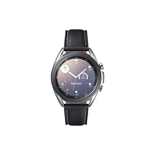 Samsung Galaxy Watch3, runde Bluetooth Smartwatch für Android, drehbare Lünette, LTE, Fitnessuhr, Fitness-Tracker, großes Display, 41 mm, silber, inkl. 36 Monate Herstellergarantie [Exkl. bei Amazon]