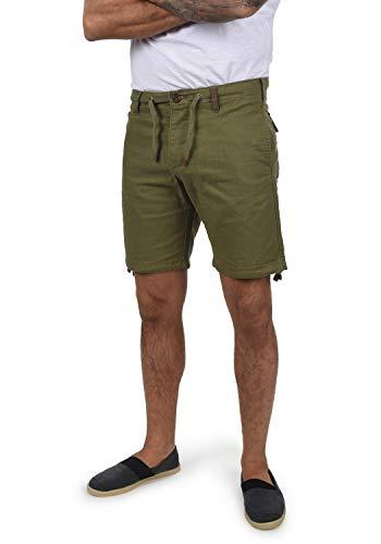 Indicode Moses Herren Leinenshorts Kurze Leinenhose Bermuda Mit Kordel Regular Fit, Größe:M, Farbe:Dark Olive (644)