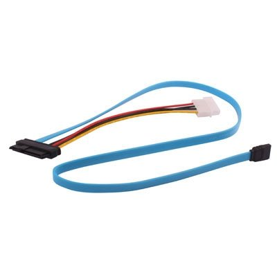 29 Pin SATA Female tot 7 Pin Female en 4 pins voedingskabel, Lengte: 70cm Riser Card Extender Usb-kabel stroomkabel sata kabel PS4 macht cabl