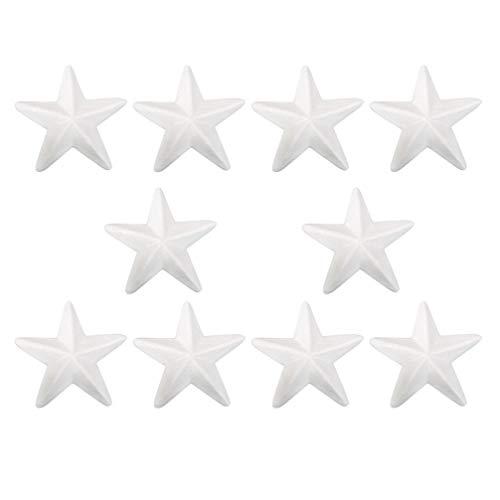 Luoem - Estrellas de poliestireno de 15 cm, 10 unidades