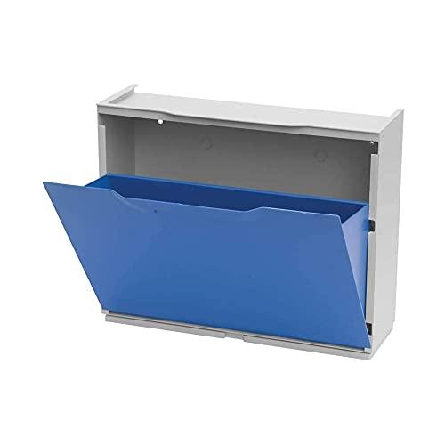 ORYX U50/1B Zapatero en Polipropileno Color, Azul Marino/Blanco, 40,1x51x17,3