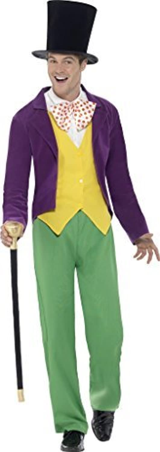 Adults Mens Willy Wonka Roald Dahl Fancy Dress Costume Size Large Chest 40  to 42