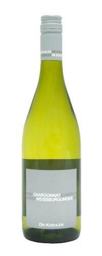 Dr. Köhler Weißburgunder/Chardonnay Qba trocken Weißwein 2013 12,5% 0,75l Flasche-2012
