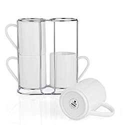 Coffee Bar stackable mugs with stand