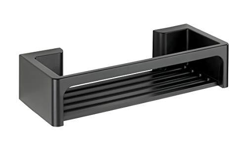 WENKO Power-Loc Bralia Duschablage, Praktisches Duschregal Schwarz ohne Bohren