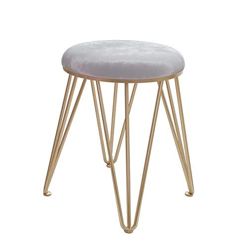 LIHUAN Make-up Hocker Einfache Moderne Stuhl Schlafzimmer Nach Hause Kleinen Ankleidehocker,Grey