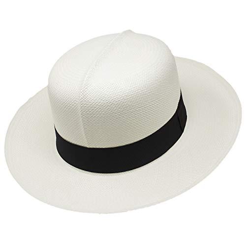 Gamboa Sombrero de Panama Genuino Sombrero Colonial Blanco UPF 50