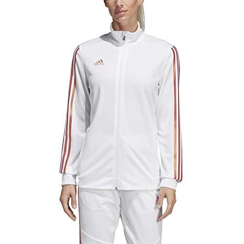adidas Damen Alphaskin Tiro Trainingsjacke, Damen, Sweatjacke, Alphaskin Tiro Training Jacket, Weiß/Nude Pearl Essence, Large