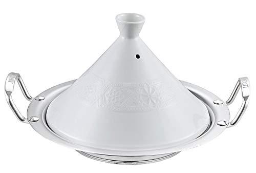 Traditionelles marokkanisches Kochgefäß aus Keramik -Tajine / Tajine mit Edelstahlboden - Ø 34 cm