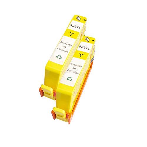 Cartuchos de tinta remanufacturados 934XL 935XL de repuesto para HP 6812 6815 6220 6230 de alta capacidad, cuatro colores amarillos