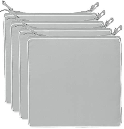 Brandsseller - Cojín para asiento exterior decorativo,repele la suciedad y el agua, relleno de 220 g, tamaño 40 x 40 x 4...