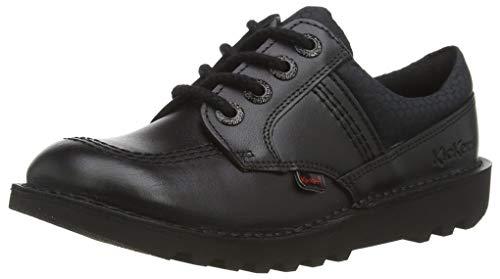 Kickers Kick Lo Flex, Zapatos de Vestir par Uniforme para Niños, Negro, 31 EU