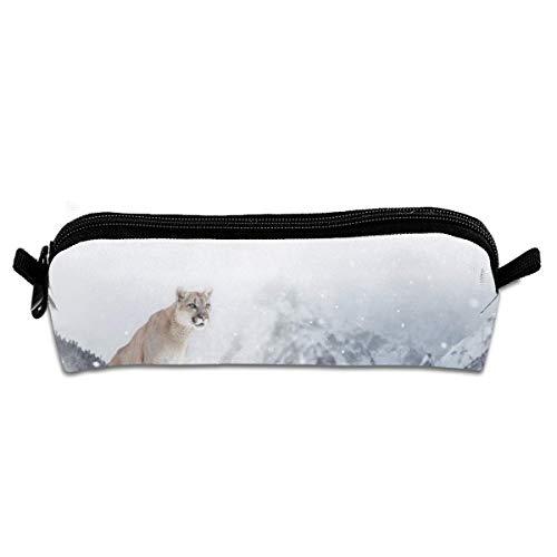 Puma en Invierno Montañas Estuche para lápices Estuche para Estuches Estuche para...