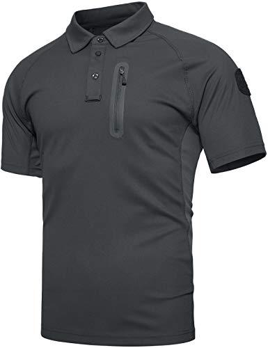 TACVASEN Outdoor T-Shirt Homme Randonnée Poids léger été décontractée Chemise de Sport Militaire t-Shirt Tactique armée Top