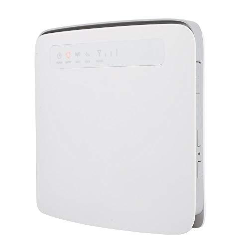 Router wireless 4G, supporto doppio Wi-Fi CAT6 300 Mbps Scheda SIM 64 utenti Router wireless 4G LTE CPE, interfaccia doppia antenna esterna, interfacce multiple(EU)