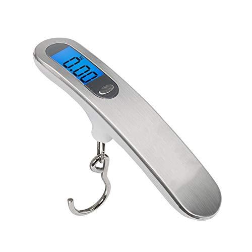 ZHPBHD Escala Electrónica De Alta Precisión For Maletas De Equipaje Portátil De Acero Inoxidable HD Pantalla De Visión Nocturna (50g-50kg)