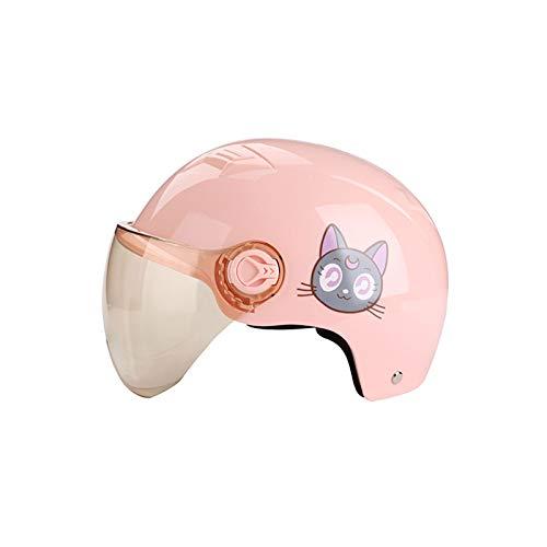 YZT QUEEN Fahrradhelm, Niedliche Cartoon-Muster Erwachsenen Elektro-Fahrradhelm Abnehmbare Brille Verstellbare Mountain Road Fahrradhelm,Pink cat