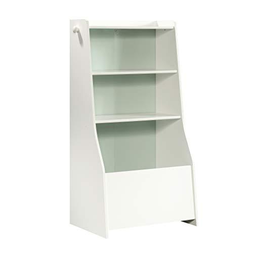 Sauder Pinwheel Bin Bookcase, Soft White finish