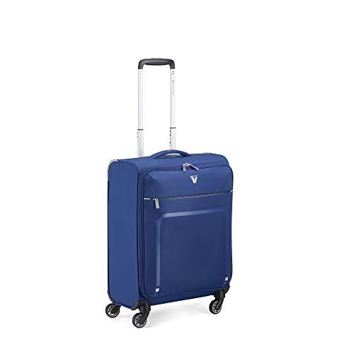 RONCATO Lite Plus trolley cabina morbido ultraleggero 4 ruote Blu notte