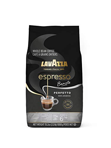 Lavazza Espresso Barista Perfetto Whole Bean Coffee 100% Arabica, Medium Espresso Roast, 2.2-Pound Bag (Packaging may vary) Authentic Italian, Blended And Roated in Italy