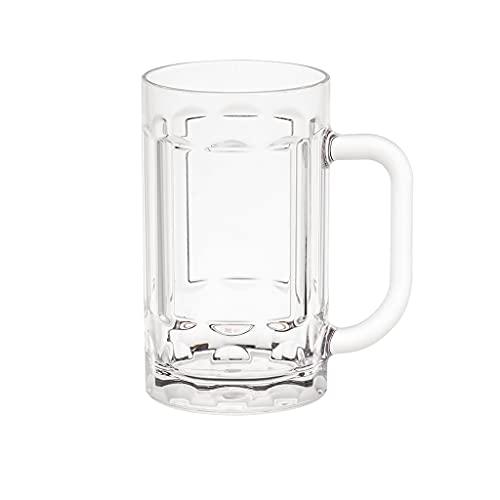Kadum Juego de 2 vasos de cerveza irrompibles, vasos de cerveza irrompibles, de plástico y policarbonato, 420 ml, perfecto para exterior/camping
