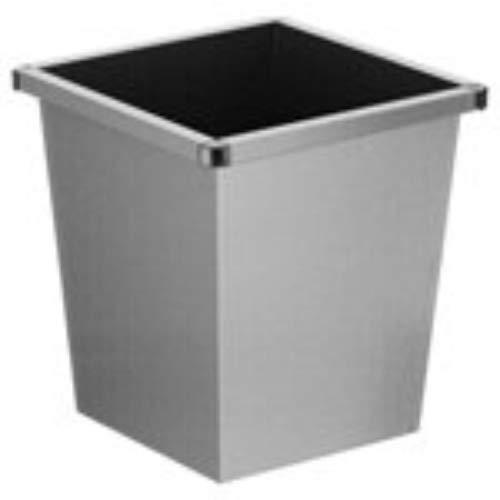 V-part corbeille à papier en métal gris - 27 litres
