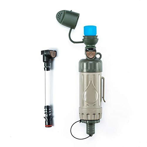 Trinkwasserfilter Für Outdoor – Notfall Wasserfilter Entfernt 99.9{f687c1556ed7be771913acb62ad20180d37cdba312d9e41a16dcb07ce4437166} Bakterien & 0.05 Mikron Filter Chemiefrei Survival Camping Zubehör Ausrüstung Zum Überleben Trinkwasseraufbereitung