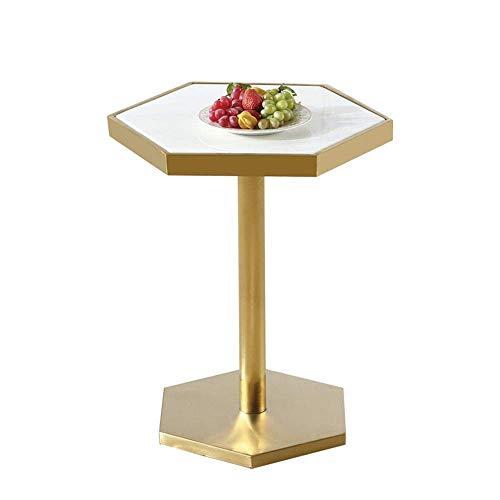 Tavolino da Salotto Tavolino da caffè Hexagon Marmo Laterale tavolino tavoli in Stile Nordico Divano Tavolino Bar Comodino Tavolo da tè, 50 60cm * Tavolino da Salotto