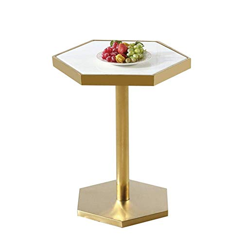 Bijzettafel,salontafel,koffietafel Hexagon Marble Side Table End Tables Nordic Style Sofa Table Coffee Table Bar Table Nachtkastje theetafel, 50 * 60CM