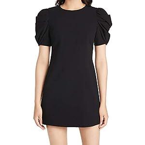 Alice + Olivia Women's Hanita Short Puff Sleeve Shift Dress